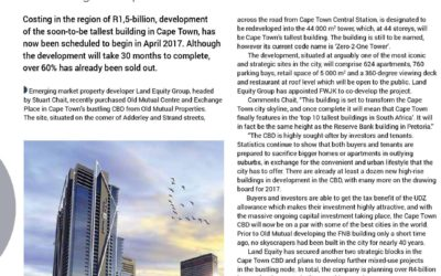 Cape Town's Tallest building set to begin in April